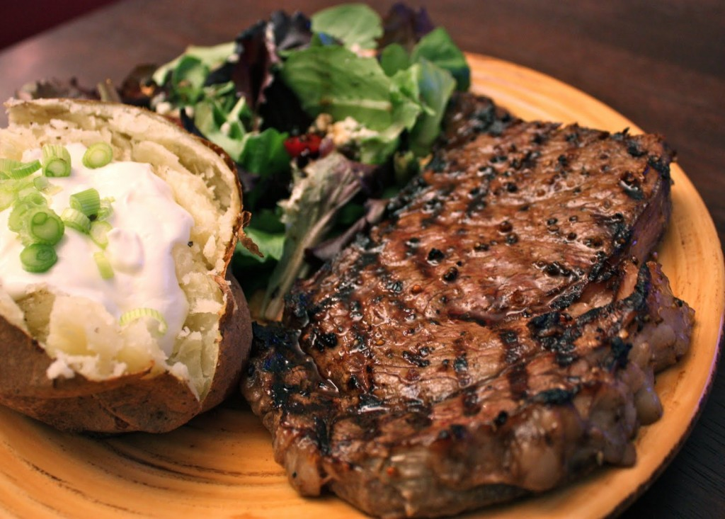 A simple, delicious steak.